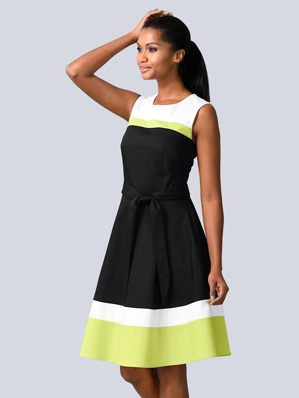 alba moda kleid im modischen colour-blocking | wenz