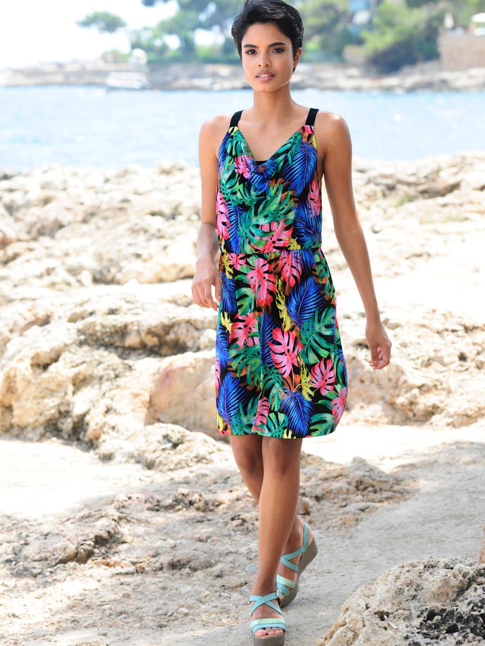 alba moda strandkleid mit wasserfallausschnitt | alba moda