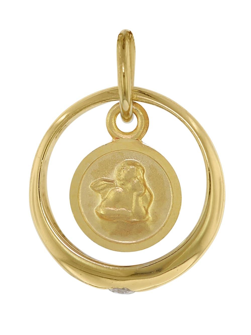 Jungen oder M/ütter trendor Halskette mit Engel-Taufring Gold auf Silber zauberhafter Taufschmuck f/ür M/ädchen wundersch/öne Geschenkidee zur Taufe 75956