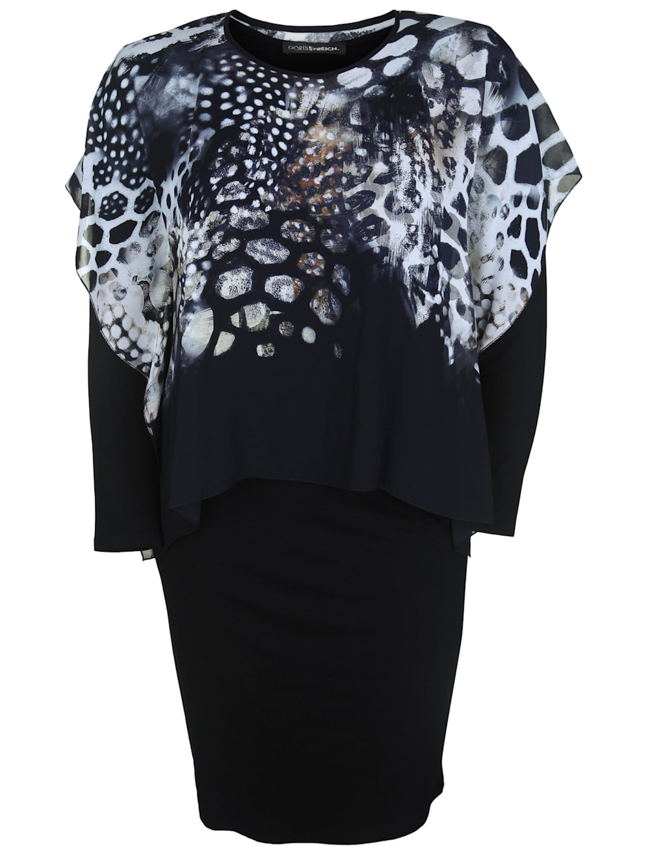 Doris Streich Kleid mit Chiffon-Überwurf  Klingel