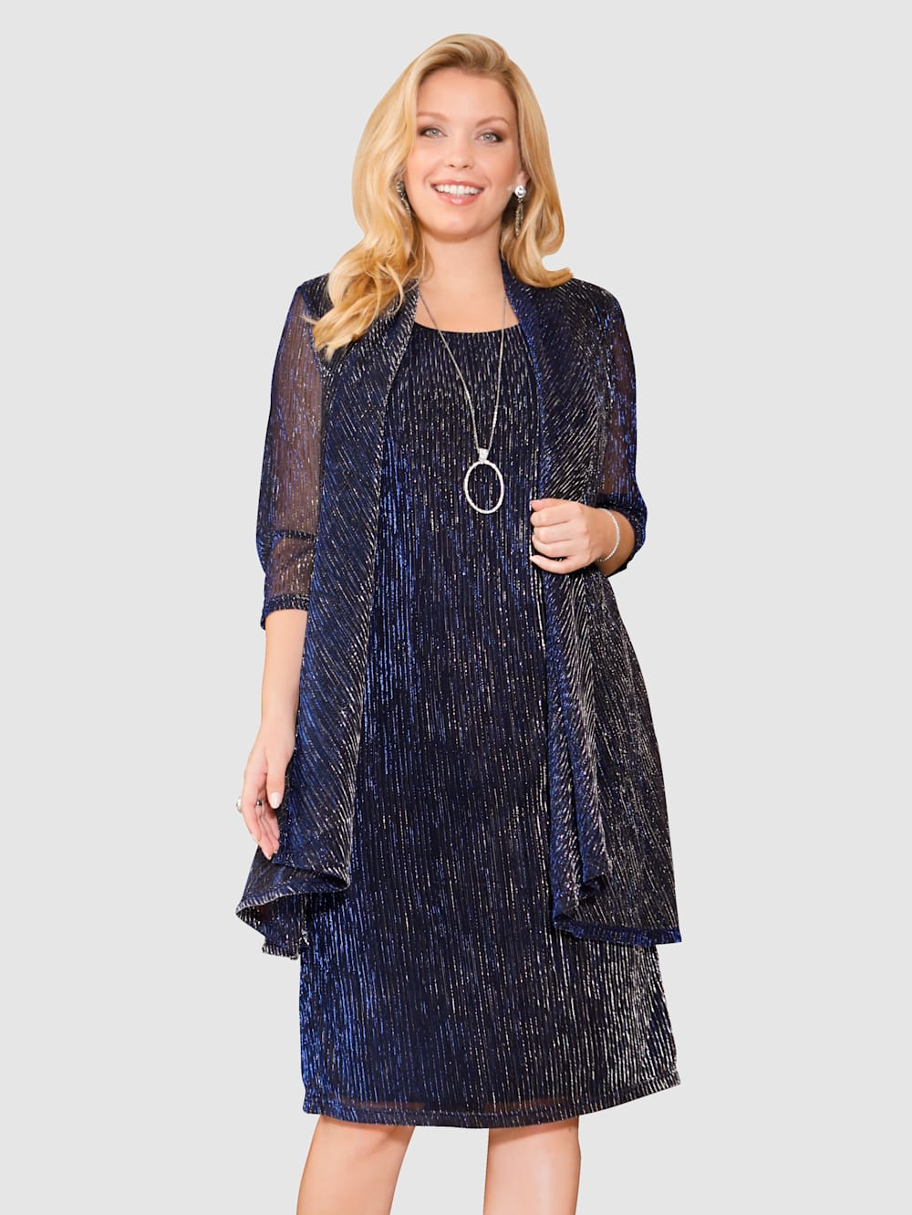 m. collection Kleid mit 2-in-1 Optik | Klingel