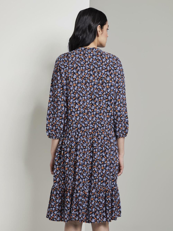 Tom Tailor Nena & Larissa: Gemustertes Kleid mit Volants | Klingel