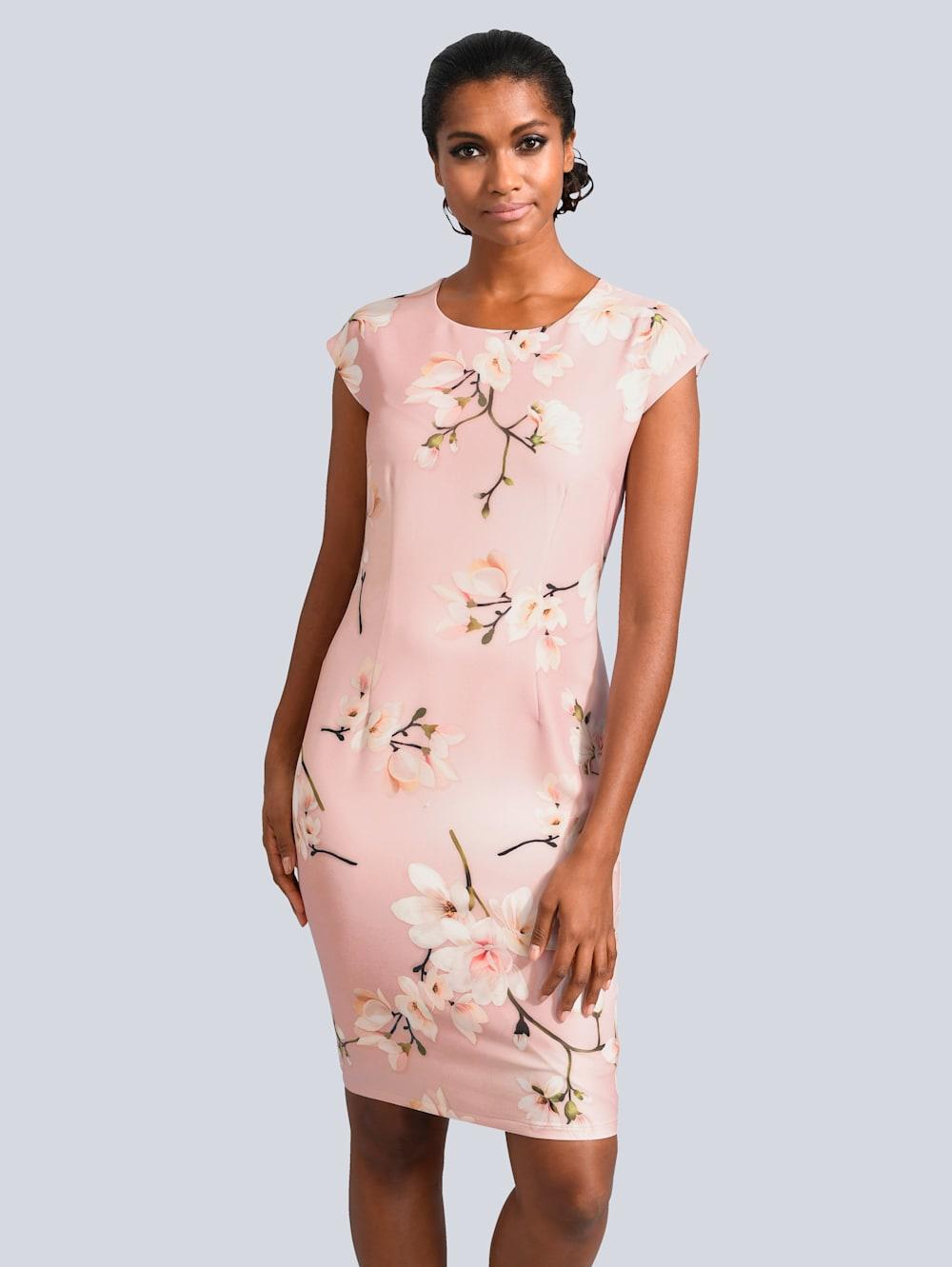 alba moda kleid allover im floralen dessin   alba moda