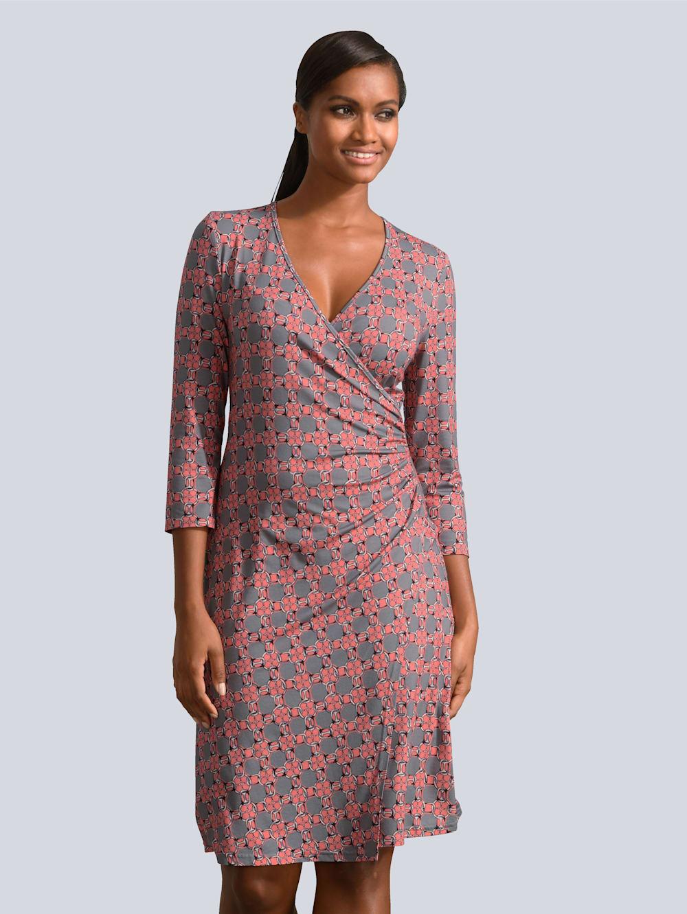Alba Moda Kleid in Wickeloptik mit Knotendetail  Alba Moda