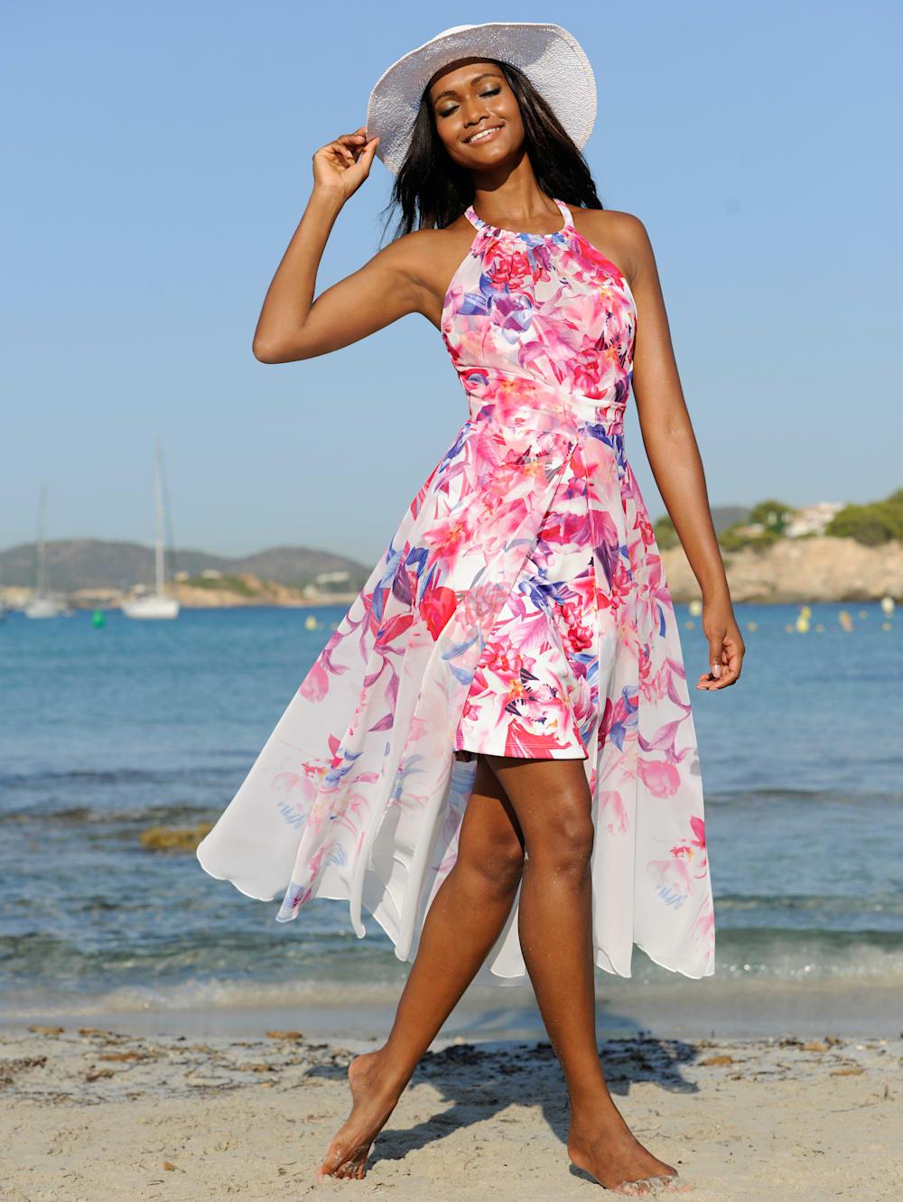 alba moda strandkleid in doppeloptik | alba moda