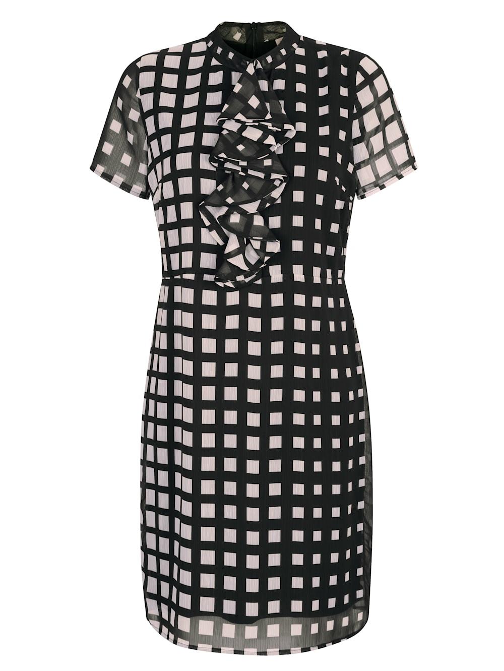 alba moda kleid mit rüschendetails in der vorderen mitte | alba moda