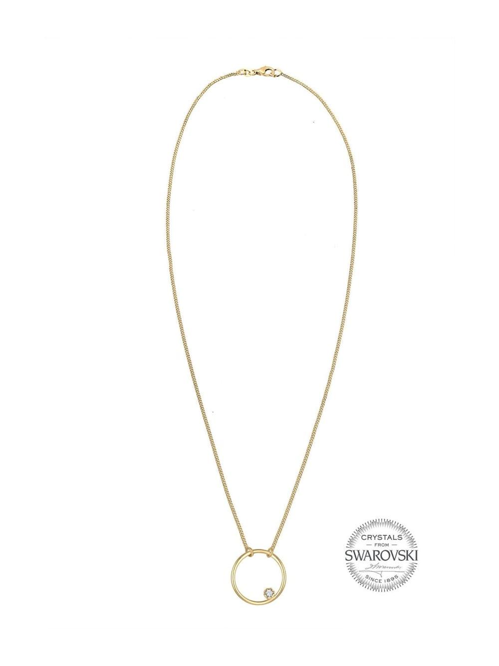 Elli Halskette Kreis Basic Swarovski® Kristalle 925 Silber | Klingel