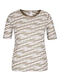 Shirt mit RIngel-Muster und Wellenstruktur