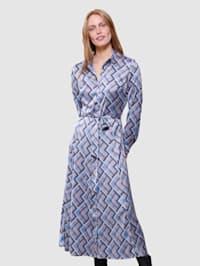 Klänning med grafiskt mönster
