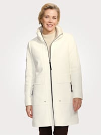 Manteau court en laine mélangée confortable