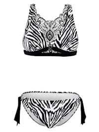 Bikini mit Rücken aus Spitze