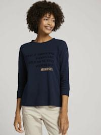 Print Shirt mit Bio-Baumwolle