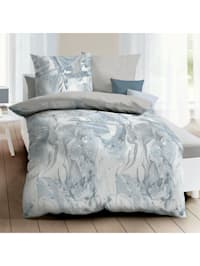 Mako-Satin Bettwäsche Carrara taube