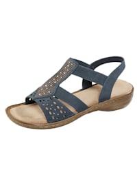 Sandaaltje met fraaie glitterapplicatie