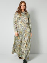Web-Kleid in kaschierendem A-Shape