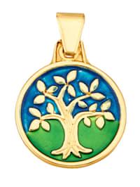 Lebensbaum-Anhänger in Gelbgold 375 Lebensbaum