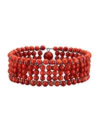 Bracelet avec corail mousse (trait.)