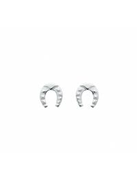 Damen Silberschmuck 925 Silber Ohrringe / Ohrstecker Hufeisen