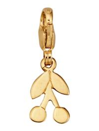 Kirsch-Einhänger in Gelbgold 375