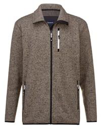 Pletená fleecová bunda s měkkou vnitřní stranou