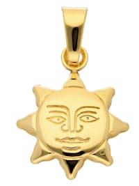 1001 Diamonds Damen Goldschmuck 333 Gold Anhänger Sonne