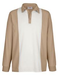 Poloshirt met contrastkleurige inzet voor