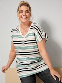 Blusen-Shirt mit überschnittener Schulter