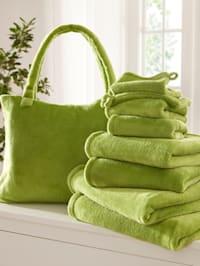 8-delige handdoekenset + gratis tas