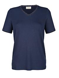 T-shirt avec dentelle à l'encolure