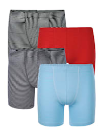 Long Pantys im 4er-Pack in modischen Farben