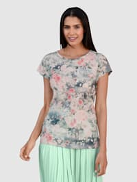Shirt in floralem Dessin
