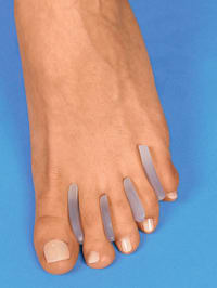 Silikonové vsadky mezi palce 16 ks