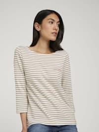 Gestreiftes 3/4 Arm Shirt mit Bio-Baumwolle