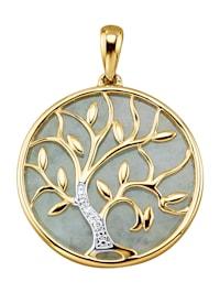Hanger Levensboom van 14 kt. goud