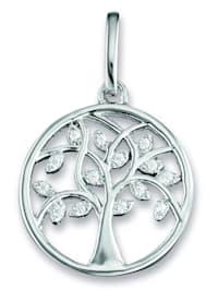 Damen Schmuck Anhänger Lebensbaum aus 925 Silber Zirkonia
