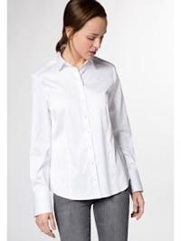 Langarm Bluse MODERN CLASSIC Stretch unifarben