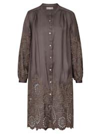 Blusenkleid mit Lochstickerei