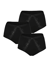 High rise briefs with smoothing effect