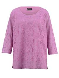Shirt met paisley-kantpatroon