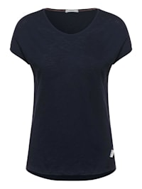 T-Shirt in Unifarbe