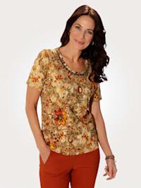 Tričko s módnym kvetinovým vzorom