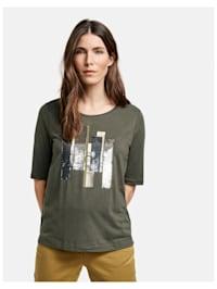 Shirt mit Paillettenstickerei