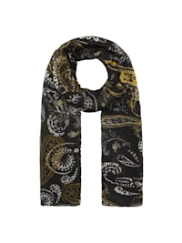 Plissee-Schal mit Paisley-Muster aus recyceltem Polyester