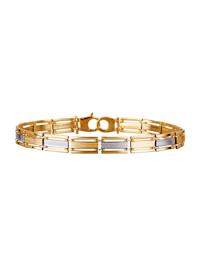 Armband i gult guld och vitt guld 14 k