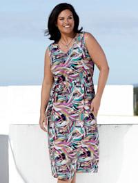 Jersey jurk met bladerenmotief