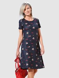 Jersey jurk met trendy bloemendessin