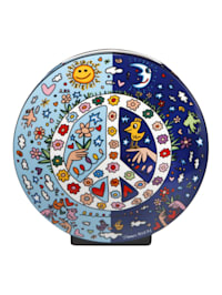 "Goebel Vase James Rizzi - ""Give Peace a Chance"""