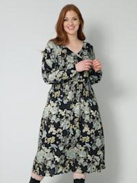 Robe tissée à imprimé floral