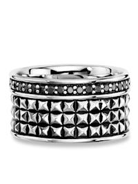 Ring 925/- Sterling Silber Spinell schwarz Mattiert 0,840ct 925/- Sterling Silber