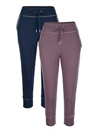 Lot de 2 pantalons de loisirs avec 3 cœurs brodés
